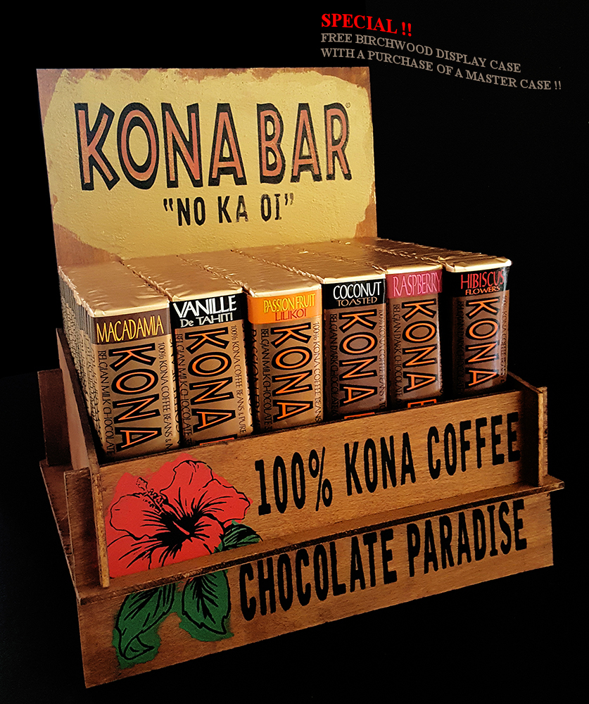 Kona Bar Birchwood Display case